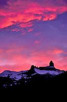 Sunset over Mount Saskatchewan, Banff National Park, Alberta.