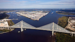 Blount Island Marine Terminal JaxPort St. Johns River helicopter aerial