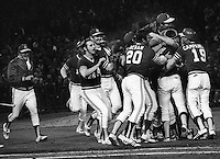 Oakland Athletics win game 4 of the 1972 World Series against the Cincinniti Reds. (photo/Ron Riesterer)