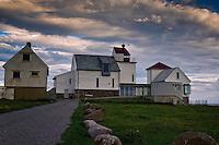 The old lighthouse at Kvassheim in Hå municipality, Rogaland county, Norway. Det gamle fyret på Kvassheim i Hå kommune, Rogaland.