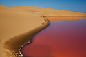 Namibia;  Namib Desert, Skeleton Coast, salt lagoon south of Walvis Bay