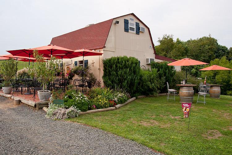 The winery and tasting facility at Three Fox Vineyards.