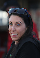 Mar. 15, 2013; Gainesville, FL, USA; NHRA funny car driver Alexis DeJoria during qualifying for the Gatornationals at Auto-Plus Raceway at Gainesville. Mandatory Credit: Mark J. Rebilas-