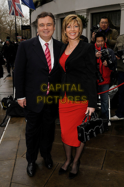 EAMONN HOLMES & RUTH LANGSFORD.TRIC Awards 2008, .Grosvenor House Hotel, London, England, March 12th 2008..full length black suit jacket red skirt.CAP/CAN.?Can Nguyen/Capital Pictures