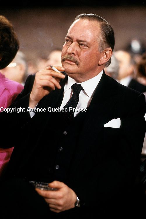FILE PHOTO  - Jacques Parizeau<br /> <br /> <br /> MANDATORY CREDIT <br /> PHOTO :  Pierre Roussel - Agence Quebec Presse