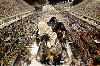 Float, platform on wheels with display, Samba Schools Parade, Rio de Janeiro carnival, Brazil - Salgueiro School at 2011 parade.