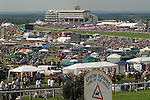 The Vodaphone Derby Day Horse Racing. Epsom Downs, Surrey, England 2007. General view from The Hill.