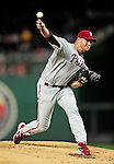 27 September 2010: Philadelphia Phillies' pitcher Roy Halladay in action against the Washington Nationals at Nationals Park in Washington, DC. Mandatory Credit: Ed Wolfstein Photo