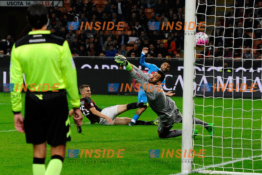 Gol di Lorenzo Insigne Napoli 0-2. Celebration goal<br /> Milano 4-10-2015 Stadio Giuseppe Meazza - Football Calcio Serie A Milan - Napoli. Foto Giuseppe Celeste / Insidefoto