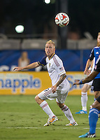 Santa Clara, California - Saturday, August 30, 2014: San Jose Earthquakes tied Real Salt Lake 1-1 at Buck Shaw Stadium