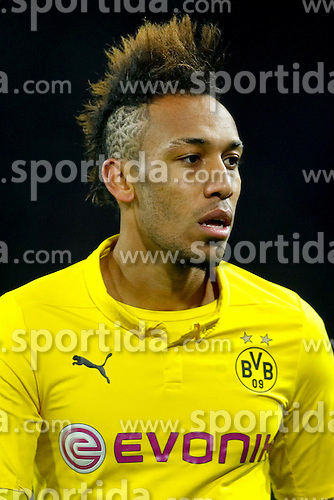 09.12.2014, Signal Iduna Park, Dortmund, GER, UEFA CL, Borussia Dortmund vs RSC Anderlecht, Gruppe D, im Bild Pierre-Emerick Aubameyang (Borussia Dortmund #17) mit Irokesenschnitt und Spinnennetz // during the UEFA Champions League group D match between Borussia Dortmund and RSC Anderlecht at the Signal Iduna Park in Dortmund, Germany on 2014/12/09. EXPA Pictures &copy; 2014, PhotoCredit: EXPA/ Eibner-Pressefoto/ Schueler<br /> <br /> *****ATTENTION - OUT of GER*****