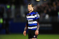 Jack Wilson of Bath Rugby looks on during a break in play. Anglo-Welsh Cup match, between Bath Rugby and Leicester Tigers on November 4, 2016 at the Recreation Ground in Bath, England. Photo by: Patrick Khachfe / Onside Images