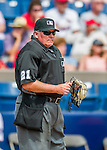 13 March 2016: MLB Umpire Hunter Wendelstedt works at Home Plate during a pre-season Spring Training game between the St. Louis Cardinals and the Washington Nationals at Space Coast Stadium in Viera, Florida. The teams played to a 4-4 draw in Grapefruit League play. Mandatory Credit: Ed Wolfstein Photo *** RAW (NEF) Image File Available ***