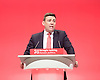 Labour Party Conference <br /> Day 4<br /> 30th September 2015 <br /> Brighton Centre, Brighton, East Sussex <br /> <br /> Andy Burnham MP<br /> Shadow Home Secretary <br /> keynote speech <br /> <br />  <br /> Photograph by Elliott Franks <br /> Image licensed to Elliott Franks Photography Services