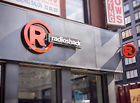 A RadioShack store in New York on Saturday, September 200, 2014. The electronics retailer is reported to be in talks with one of its prime vendors to change its arrangement which would stem the course the company is steering towards bankruptcy. (© Richard B. Levine)