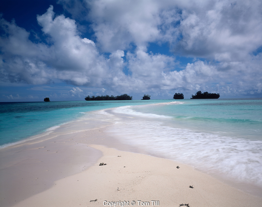 Tiny Strand of Sand, Rock Islands National Park, Republic of Palau  Micronesia South Pacific