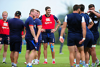 Matt Banahan of Bath Rugby looks on. Bath Rugby pre-season training session on August 9, 2016 at Farleigh House in Bath, England. Photo by: Patrick Khachfe / Onside Images