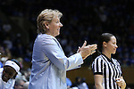 01 March 2015: UNC head coach Sylvia Hatchell. The Duke University Blue Devils hosted the University of North Carolina Tar Heels at Cameron Indoor Stadium in Durham, North Carolina in a 2014-15 NCAA Division I Women's Basketball game. Duke won the game 81-80.