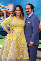 HOLLYWOOD, CA - JULY 9: Melissa McCarthy, Ben Falcone at the premiere of Sony Pictures' 'Ghostbusters' held at TCL Chinese Theater on July 9, 2016 in Hollywood, California. Credit: David Edwards/MediaPunch
