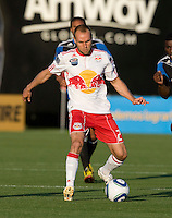 Joel Lindpere of Red Bulls in action during the game against the Earthquakes at Buck Shaw Stadium in Santa Clara, California.  San Jose Earthquakes defeated New York Red Bulls, 4-0.