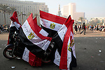 Egyptian flags for sale on Tahrir Square.during clashes with riot police  on November 22, 2011 in Cairo, Egypt.