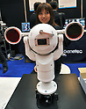 October 19, 2011, Tokyo, Japan - A security camera with tracking capabilities is on display during Risk Management Expo in Tokyo on Wednesday, October 19, 2011. Members of domestic and foreign law enforcement communities were among visitors to the annual security and safety trade show that covered the fields of safety, risk and crisis management, and security and crime prevention. (Photo by Natsuki Sakai/AFLO) [3615] -mis-