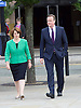 Conservative Party Conference <br /> Manchester, Great Britain <br /> Day 3<br /> 6th October 2015 <br /> <br /> David Cameron walking in <br /> with Jane Ellison MP <br /> <br /> <br /> <br /> Photograph by Elliott Franks <br /> Image licensed to Elliott Franks Photography Services
