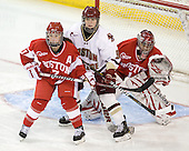 Catherine Ward (BU - 17), Taylor Wasylk (BC - 9), Kerrin Sperry (BU - 1) - The visiting Boston University Terriers defeated the Boston College Eagles 1-0 on Sunday, November 21, 2010, at Conte Forum in Chestnut Hill, Massachusetts.