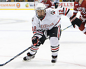 Steve Morra (NU - 12) - The Northeastern University Huskies defeated the Harvard University Crimson 4-1 (EN) on Monday, February 8, 2010, at the TD Garden in Boston, Massachusetts, in the 2010 Beanpot consolation game.