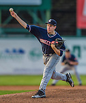 1 September 2013: Connecticut Tigers pitcher Chase Edwards, a native of Houston, Texas, on the mound against the Vermont Lake Monsters at Centennial Field in Burlington, Vermont. The Lake Monsters fell to the Tigers 6-4 in 10 innings of NY Penn League action. Mandatory Credit: Ed Wolfstein Photo *** RAW Image File Available ****