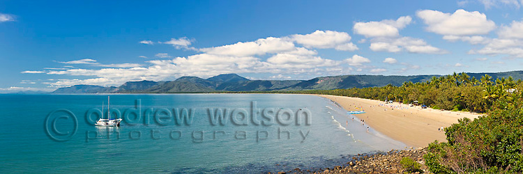 View along Four Mile Beach.  Port Douglas, Queensland, Australia