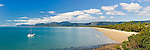 View along Four Mile Beach.  Port Douglas, Queensland, Australia