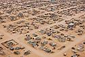 Namibia, Namib Desert, aerial view of black township in desert near Swakopmund