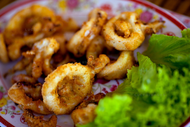 Deep-fried calamari at the Orchid Restaurant on Con Son Island, part of the Con Dao Islands.The 16 mountainous islands and islets are situated about 143 miles southeast of Ho Chi Minh City in Vietnam, in the South China. Photo taken Thursday, May 6, 2010...Kevin German / LUCEO For the New York Times