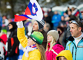 Spectators during 11th Women FIS Ski Jumping World Cup competition in Planica replacing Ljubno  on January 25, 2014 at HS95, Planica, Slovenia. Photo by Vid Ponikvar / Sportida