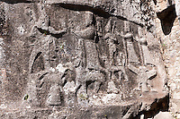 Picture of Yazilikaya [ i.e written riock ], Hattusa  The largest known Hittite sanctuary. 13th century BC made in the reign of Tudhaliya 1V . 14