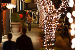 Guests walked the tree-lined streets of Los Altos during the Holiday Stroll.