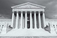 The Neoclassical US Supreme Court Building in Washington DC