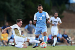 28 August 2015: North Carolina's Nico Melo (31) and FIU's Thibault Civalier (FRA) (left). The University of North Carolina Tar Heels hosted the Florida International University Panthers at Fetzer Field in Chapel Hill, NC in a 2015 NCAA Division I Men's Soccer match. North Carolina won the game 1-0