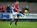 Brechin City v St Johnstone&hellip;26.07.16  Glebe Park, Brechin. Betfred Cup<br />Ross Caldwell and Tam Scobbie<br />Picture by Graeme Hart.<br />Copyright Perthshire Picture Agency<br />Tel: 01738 623350  Mobile: 07990 594431