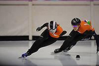 SCHAATSEN: HEERENVEEN: 31-01-2014,  IJsstadion Thialf, Training Topsport, Lara van Ruijven, Jorien ter Mors, ©foto Martin de Jong