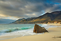 Sandy beach on the Big Sur coast, California, USA.