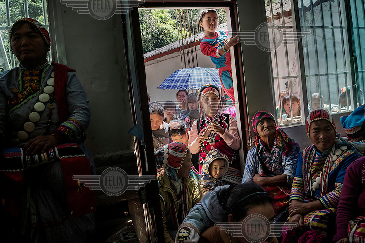 Lisu villagers attend an Easter festival celebration in Zilijia Protestant Church on the bank of the Nujiang River.