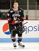 Vinny Saponari (NU - 74) - The visiting Northeastern University Huskies defeated the Boston University Terriers 6-5 on Friday, January 18, 2013, at Agganis Arena in Boston, Massachusetts.