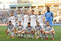 Los Angeles Galaxy starting eleven. The Philadelphia Union  and the Los Angeles Galaxy played to a 1-1 tie during a Major League Soccer (MLS) match at PPL Park in Chester, PA, on May 11, 2011.