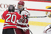 Jimmy DeVito (RPI - 20), Clay Anderson (Harvard - 5) - The Harvard University Crimson defeated the visiting Rensselaer Polytechnic Institute Engineers 5-2 in game 1 of their ECAC quarterfinal series on Friday, March 11, 2016, at Bright-Landry Hockey Center in Boston, Massachusetts.