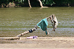 Clothes Drying Near River
