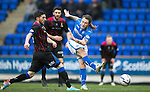 St Johnstone v Inverness Caledonian Thistle....22.02.14    SPFL<br /> Stevie May's shot is saved dy Dean Brill<br /> Picture by Graeme Hart.<br /> Copyright Perthshire Picture Agency<br /> Tel: 01738 623350  Mobile: 07990 594431