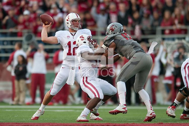 STANFORD, CA-OCTOBER 15, 2011- The Stanford Cardinal defeats Washington State University at Martin Stadium in Pullman, WA
