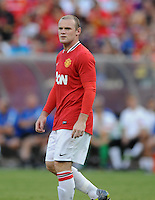 Manchester United forward Wayne Rooney (10) Manchester United defeated Barcelona FC 2-1 at FedEx Field in Landover, MD Saturday July 30, 2011.